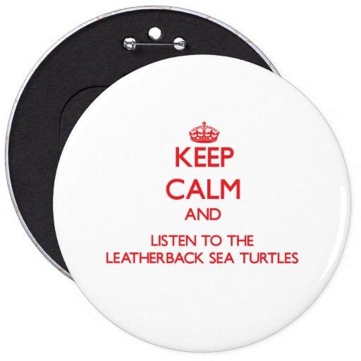 Guarde la calma y escuche la tortuga de mar del Le Pin