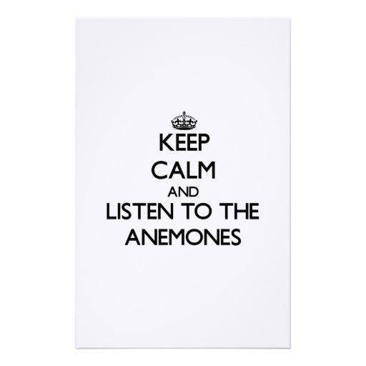 Guarde la calma y escuche las anémonas papeleria