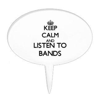 Guarde la calma y escuche las BANDAS Decoraciones De Tartas