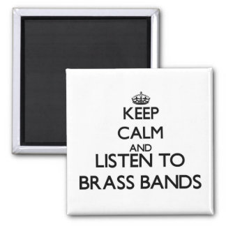 Guarde la calma y escuche las BANDAS DE METALES Imanes De Nevera