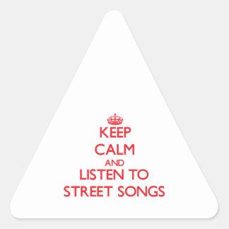 Guarde la calma y escuche las CANCIONES de la CALL