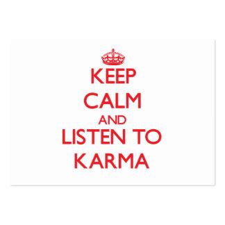Guarde la calma y escuche las KARMAS
