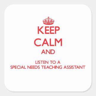 Guarde la calma y escuche las necesidades de un Sp Colcomania Cuadrada