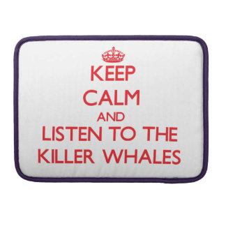 Guarde la calma y escuche las orcas funda macbook pro