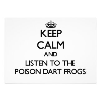 Guarde la calma y escuche las ranas del dardo del