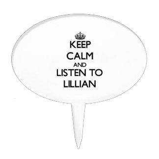 Guarde la calma y escuche Lillian Figuras De Tarta