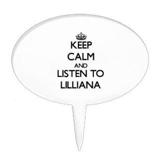 Guarde la calma y escuche Lilliana Palillos De Tarta
