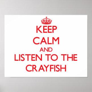 Guarde la calma y escuche los cangrejos impresiones