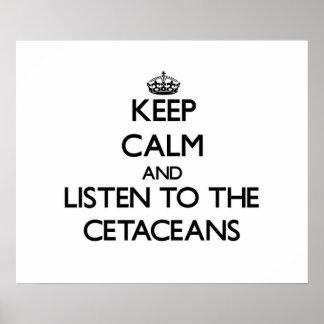 Guarde la calma y escuche los cetáceos