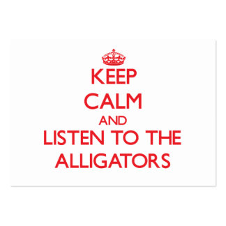 Guarde la calma y escuche los cocodrilos tarjeta de visita