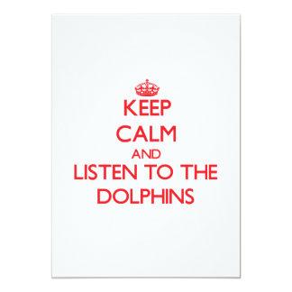 Guarde la calma y escuche los delfínes comunicados personalizados