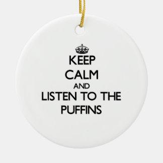 Guarde la calma y escuche los frailecillos