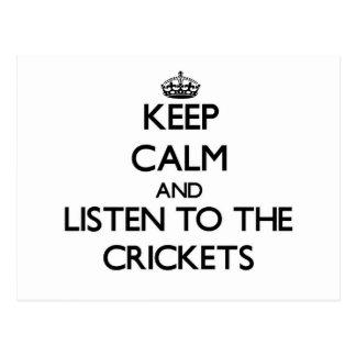 Guarde la calma y escuche los grillos postales