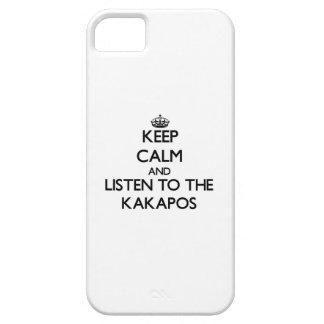 Guarde la calma y escuche los Kakapos iPhone 5 Case-Mate Coberturas