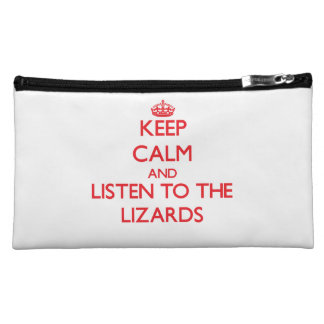 Guarde la calma y escuche los lagartos