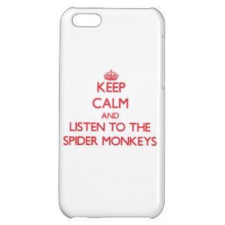 Guarde la calma y escuche los monos de araña