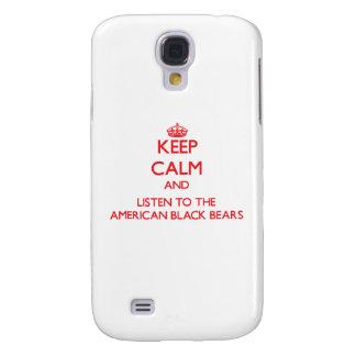 Guarde la calma y escuche los osos negros american