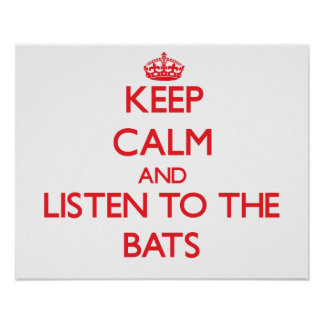 Guarde la calma y escuche los palos impresiones