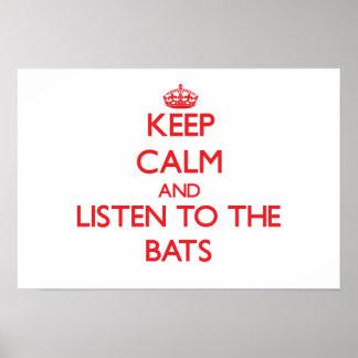 Guarde la calma y escuche los palos poster