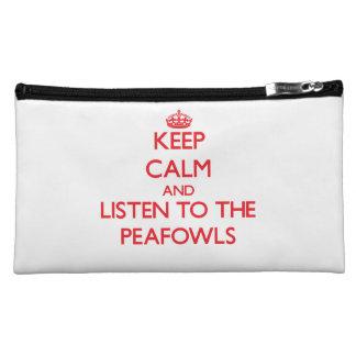 Guarde la calma y escuche los Peafowls