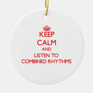 Guarde la calma y escuche los RITMOS COMBINADOS Ornamento De Reyes Magos