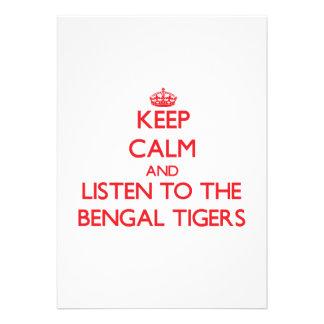 Guarde la calma y escuche los tigres de Bengala Comunicado
