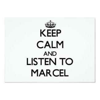 Guarde la calma y escuche Marcelo Anuncios Personalizados