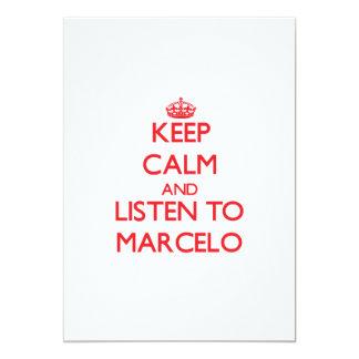 Guarde la calma y escuche Marcelo Invitación Personalizada