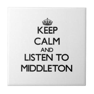 Guarde la calma y escuche Middleton