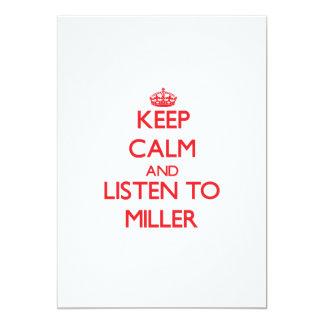 Guarde la calma y escuche Miller Comunicados Personalizados