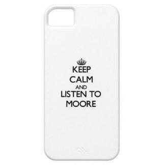 Guarde la calma y escuche Moore iPhone 5 Case-Mate Coberturas