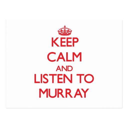 Guarde la calma y escuche Murray Postal