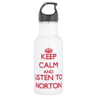 Guarde la calma y escuche Norton