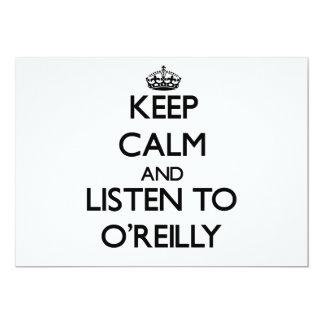 Guarde la calma y escuche O'Reilly Invitación 12,7 X 17,8 Cm