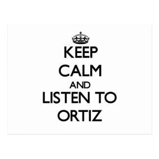 Guarde la calma y escuche Ortiz Postal