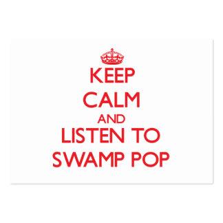 Guarde la calma y escuche PARA HUNDIR EL POP Tarjetas De Visita Grandes