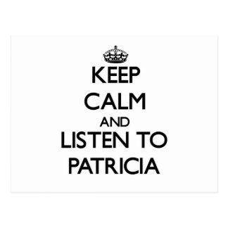 Guarde la calma y escuche Patricia Postales