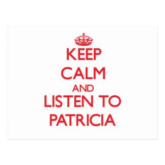 Guarde la calma y escuche Patricia Postal