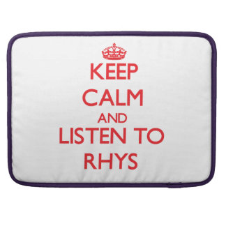 Guarde la calma y escuche Rhys