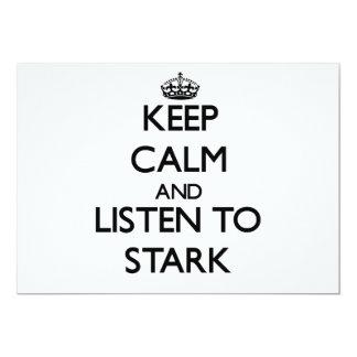 Guarde la calma y escuche rígido comunicados