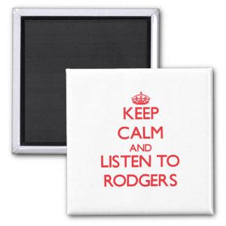 Guarde la calma y escuche Rodgers Imán De Nevera