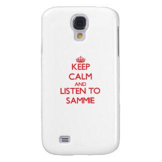 Guarde la calma y escuche Sammie Funda Para Galaxy S4
