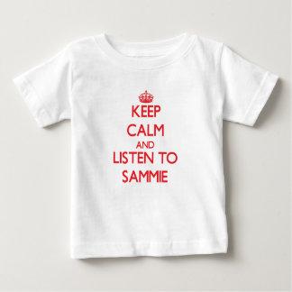 Guarde la calma y escuche Sammie Playeras