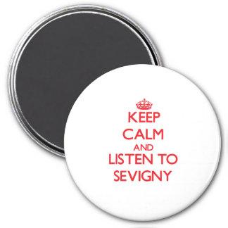 Guarde la calma y escuche Sevigny Imán De Frigorífico