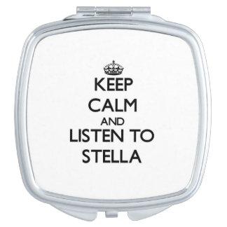 Guarde la calma y escuche Stella Espejos Maquillaje