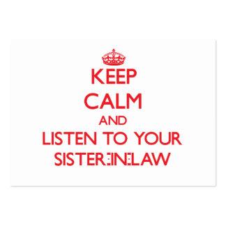 Guarde la calma y escuche su cuñada