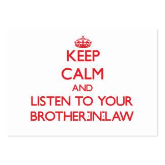 Guarde la calma y escuche su cuñado