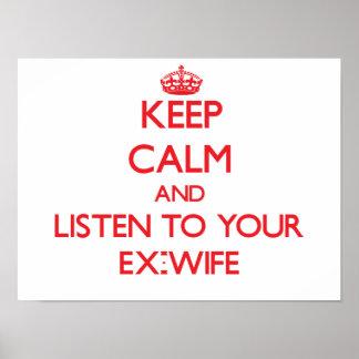 Guarde la calma y escuche su exmujer poster