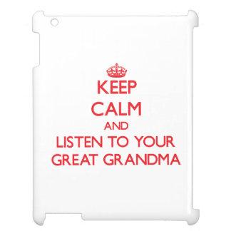 Guarde la calma y escuche su gran abuela