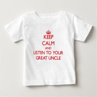Guarde la calma y escuche su gran tío remera